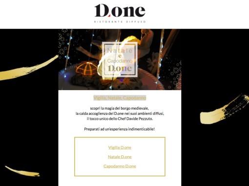 Ristorante D.one – Vigilia, Natale, Capodanno