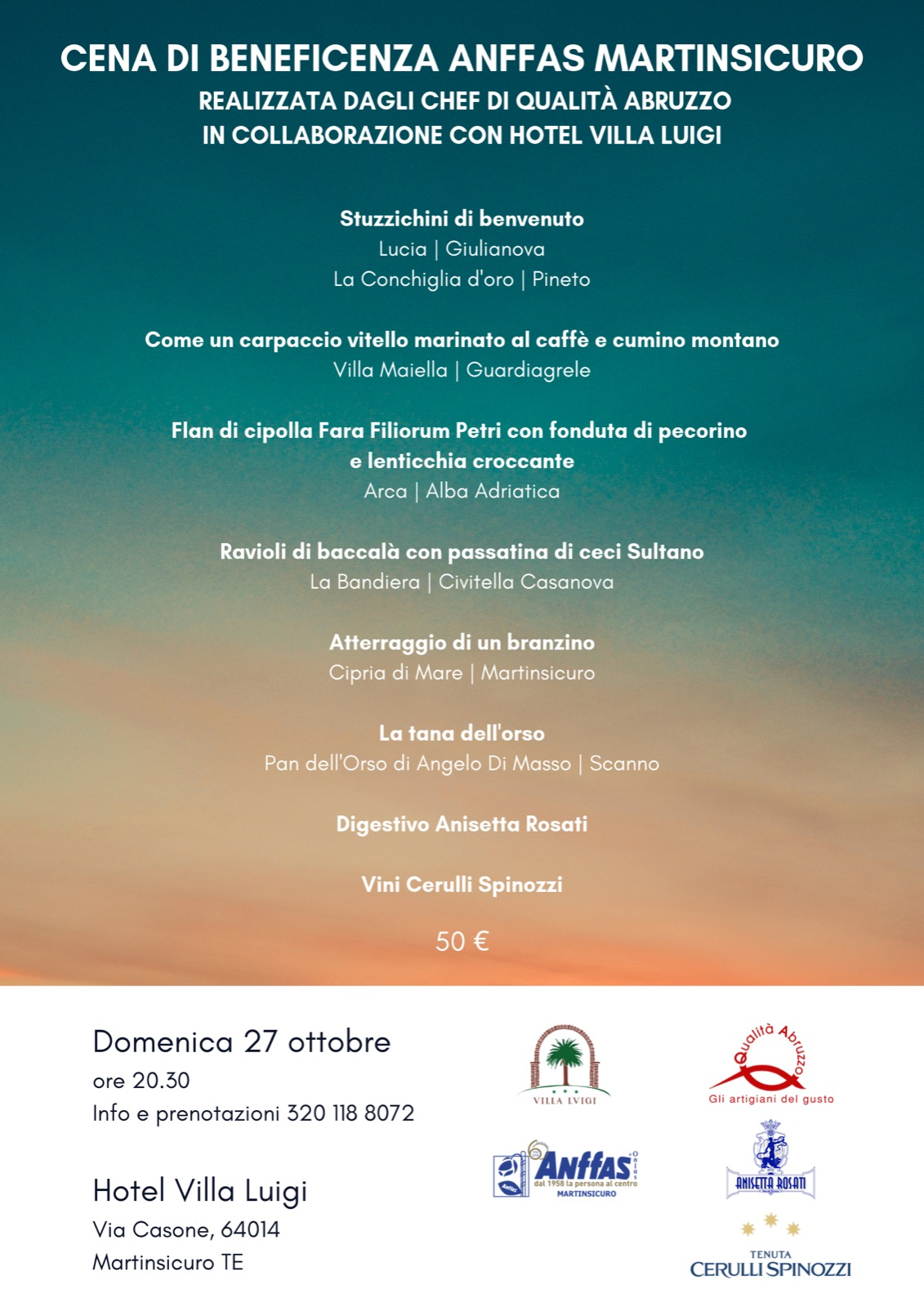 Cena Anffas - Qualità Abruzzo